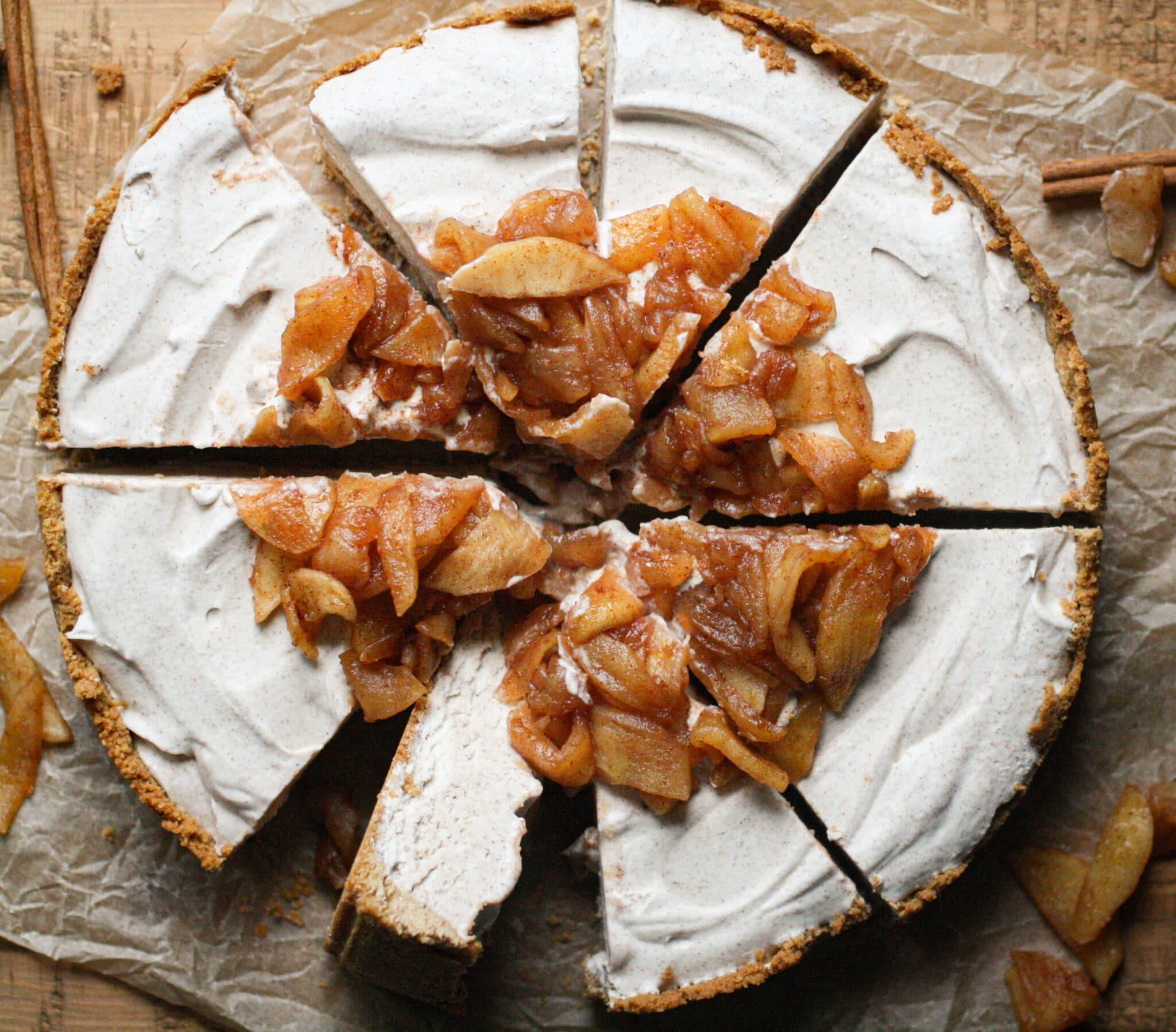 Cinnamon Apple Ice Cream Pie