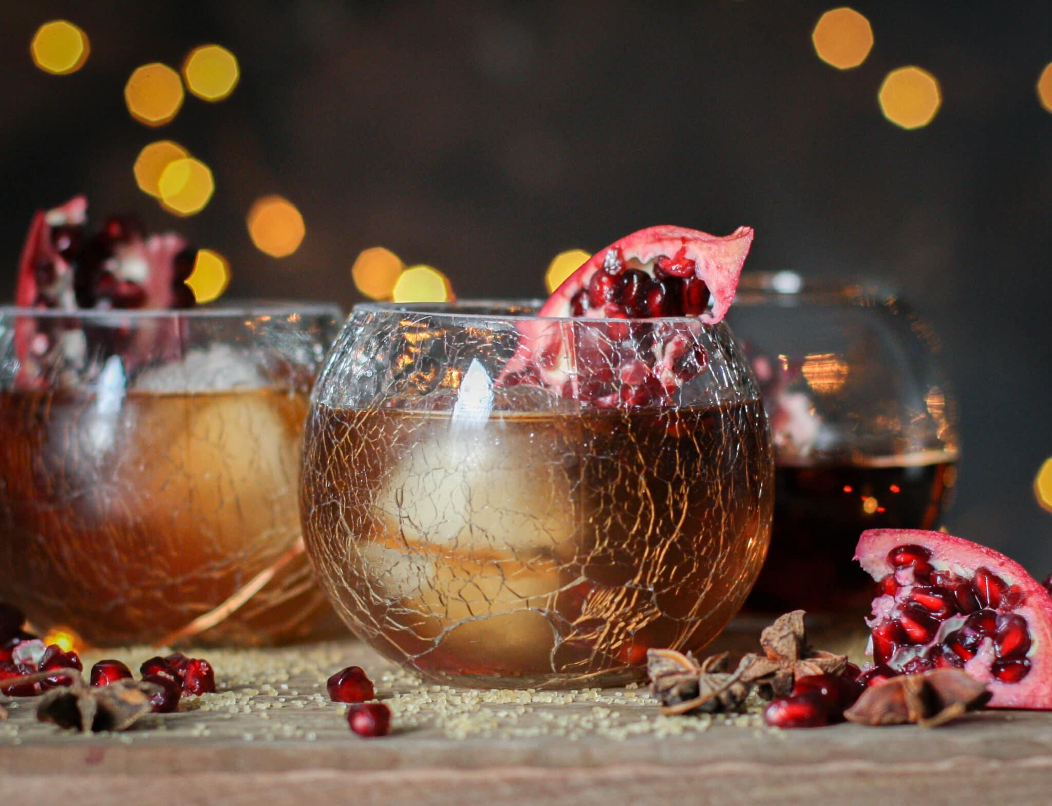 Holiday Manhattan Cocktails