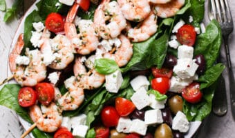 Shrimp & Spinach Salad with Sundried Tomato Vinaigrette