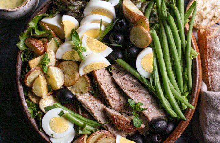 Seared Tuna Nicoise Salad with Creamy Tarragon Vinaigrette