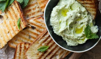 Whipped Peas & Ricotta with Grilled Bread
