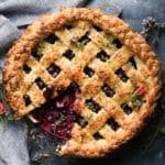 Country Blueberry Pie w/ Lemon Thyme Crust