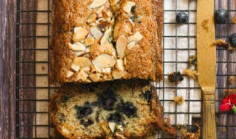 Blueberry Almond Zucchini Bread